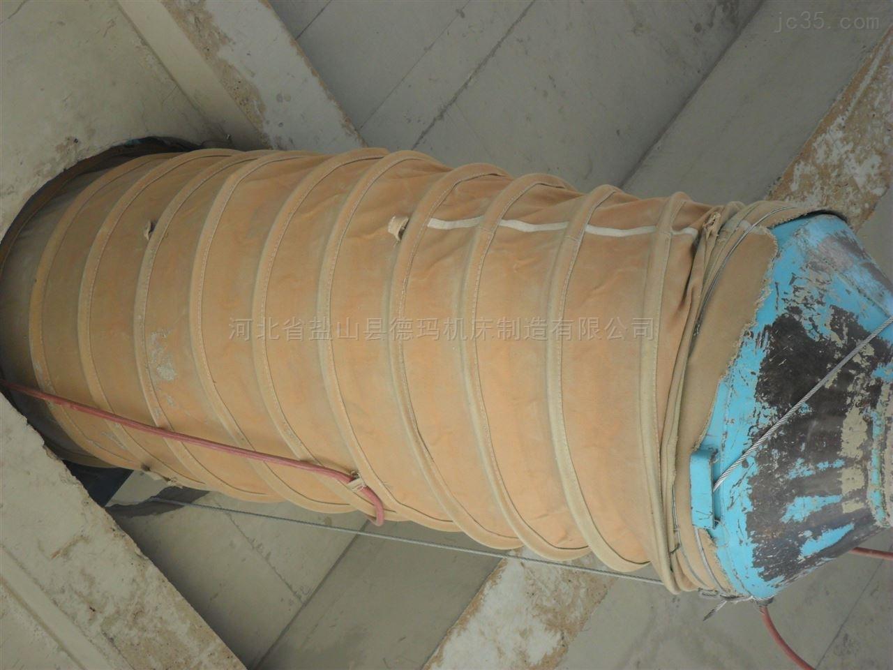 自定-耐高温伸缩管风机水泥伸缩帆布软连接