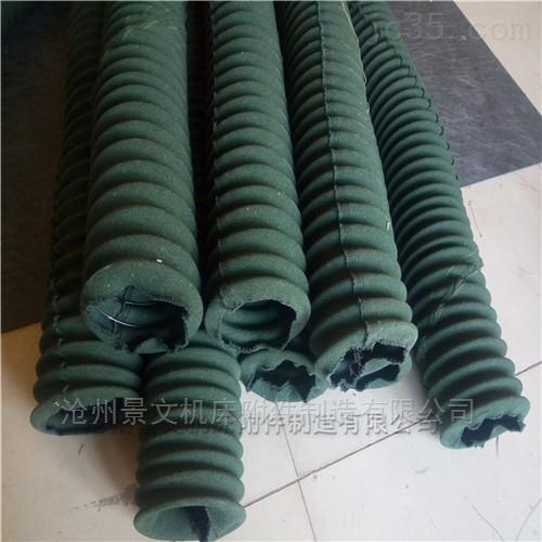 绿色帆布丝杠防护罩--耐磨抗老化效果好!
