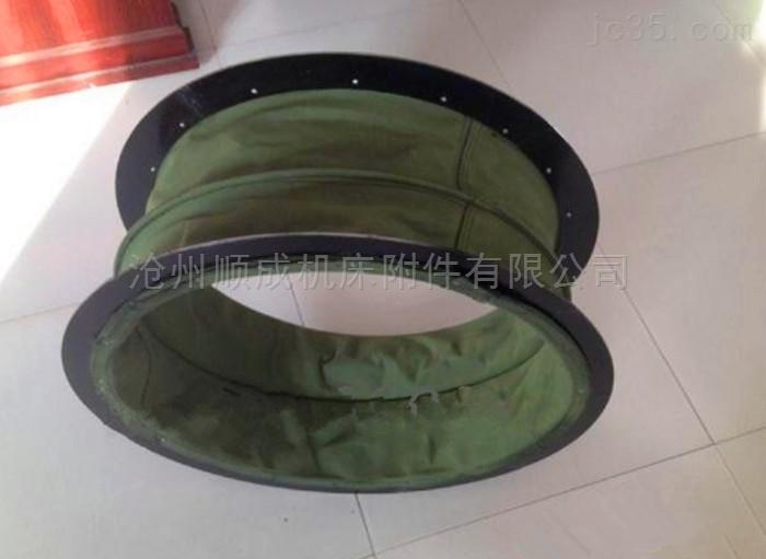 厂家定制圆形耐拉伸帆布通风软连接