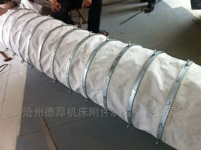 400干灰散装机帆布卸料耐磨钢制溜筒帆布伸缩节