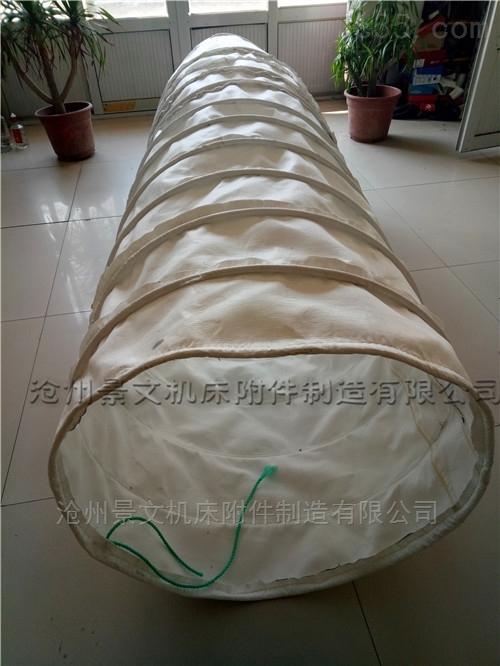 景县散装机耐磨帆布输送伸缩布袋规格定做