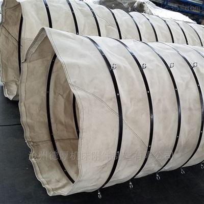 350下料口干灰除尘伸缩帆布袋 风管水泥厂套筒