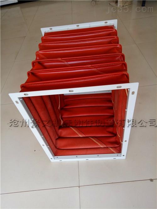 方形硅胶布高温风道口伸缩软连接价格