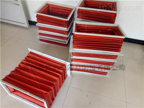 红色硅胶布方形高温软连接报价