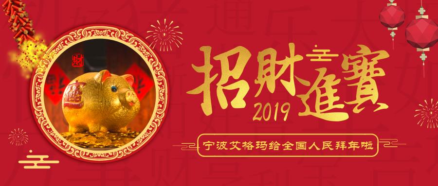 豬年好運似長龍 寧波艾格瑪祝全國人民新年快樂