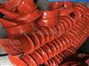 耐磨帆布方形软连接伸缩耐高温软管